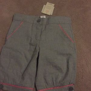 Toddler girls (2T) gray and pink shorts